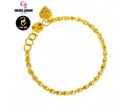GJ Jewellery Emas Korea Bracelet - Siput Kikir + Full of Love (2460540-2FOLA)