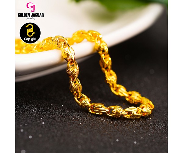GJ Jewellery Emas Korea Bracelet - Siput Pasir Kikir + Full of Love (2460541-2FOLA)