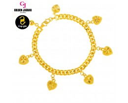 GJ Jewellery Emas Korea Bracelet - Papan Pasir Kikir + Lovely (2560626-0LY)