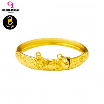 GJ Jewellery Emas Korea Bangle - Diamond Kikir | Kids | Hook (9564243)