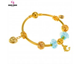 GJ Jewellery Emas Korea Charm Bracelet - Love Sea (PDR0003)
