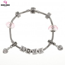 GJ Jewellery Emas Korea Pandora - First Love - Pink (PDR0008)