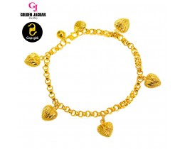 GJ Jewellery Emas Korea Bracelet - Bicycle + Love Kerang Pasir (2460438-1LKP)