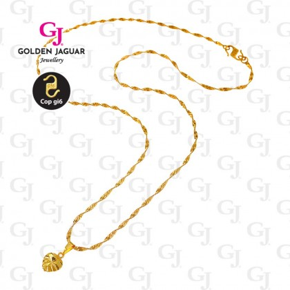 GJ Jewellery Emas Korea Necklace - Linked Love Ace (40610)