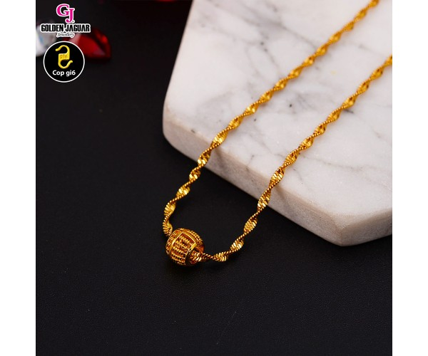 GJ Jewellery Emas Korea Necklace - Sempoa #BringLuck (40604LK)