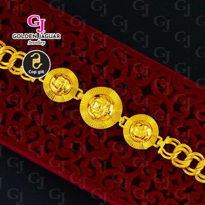 GJ Jewellery Emas Korea Bracelet - Dawn Flower + Koko Pasir New (2861847)