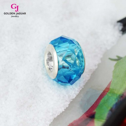 GJ Jewellery Emas Korea PDR - Charm Crystal Light Blue Sea