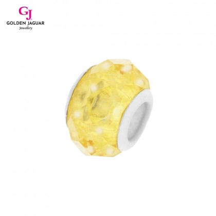 GJ Jewellery Emas Korea PDR - Charm Snowy Crystal Lemon Yellow