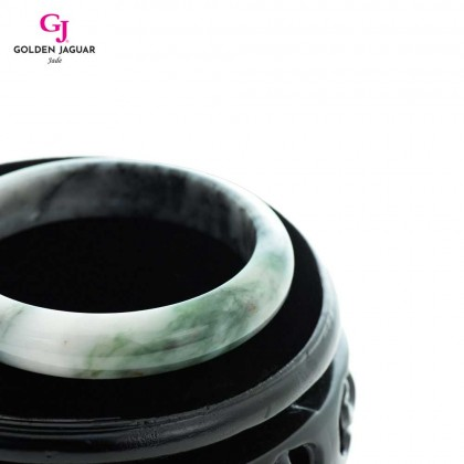 GJ Jewellery Exclusive Jade - Genuine Grade A Certified Natural Jade Bangle (X1905051953)