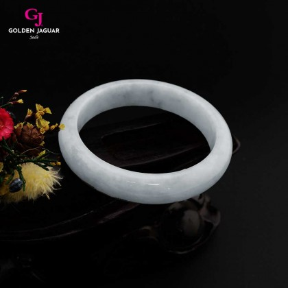GJ Jewellery Exclusive Jade - Genuine Grade A Certified Natural Jade Bangle (X1905051954)