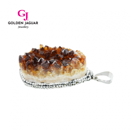 GJ Jewellery Emas Korea Necklace - Druzy Agate Ana (GJ-C02)
