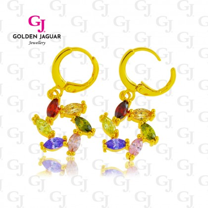 GJ Jewellery Emas Korea Earring - Fire Wheel Diamond (6762121)