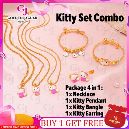 {NEW} GJ Jewellery Emas Korea Set - Classic Perfect Kitty Match (4 in 1 COMBO SET)