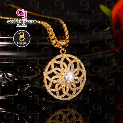 GJ Jewellery Emas Korea Necklace - Antique Zircon (40612)