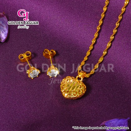 GJ Jewellery Emas Korea Exclusive Combo - Ivy Necklace Earring Set (B-A5)