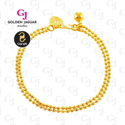 GJ Jewellery Emas Korea Bracelet - Bebola 2 Layer (2160406)