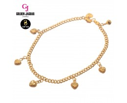 GJ Jewellery Emas Korea Anklet - Papan + Love | 3.0 (3560322-0)