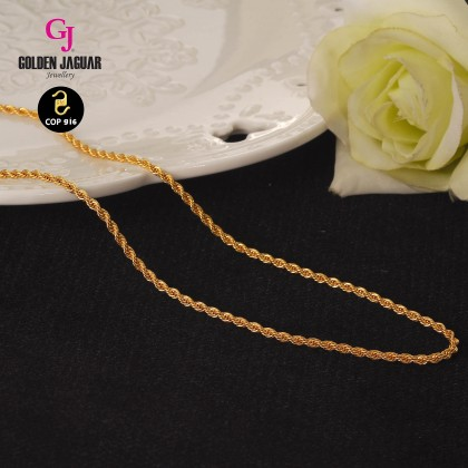 GJ Jewellery Emas Korea Necklace - Pintal | 60cm | 5.0 (43600507)