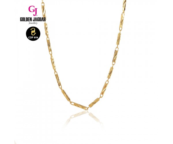 GJ Jewellery Emas Korea Necklace - Buloh | 50cm | 5.0 (446500501)