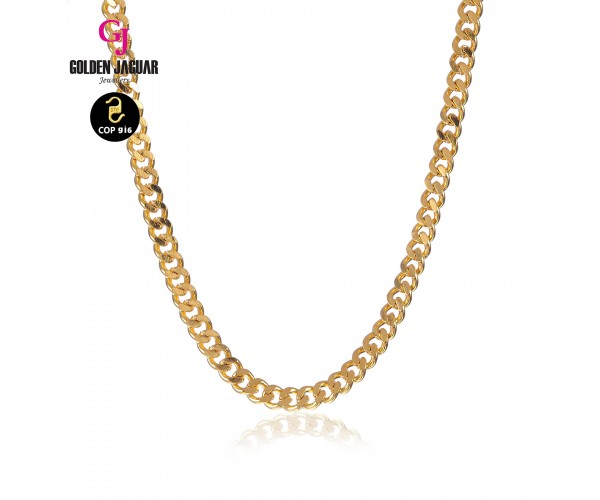 GJ Jewellery Emas Korea Necklace - Papan Kikir | 50cm | 4.0 (456500402)