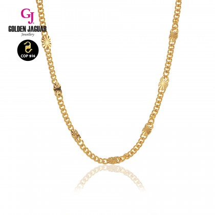 GJ Jewellery Emas Korea Necklace - Papan + Jubin | 50cm | 3.0 (456500337)