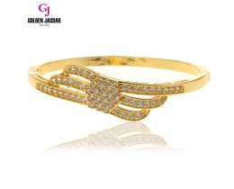 GJ Jewellery Emas Korea Bangle - Zirkon Triple Layer | Hook (5765803)