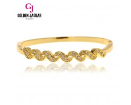 GJ Jewellery Emas Korea Bangle - Zirkon S Wave | Hook (5765505)