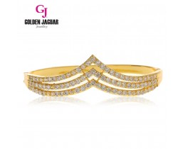 GJ Jewellery Emas Korea Bangle - Zirkon Vernus Triple Layer | Hook (5765506)