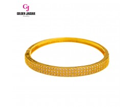 GJ Jewellery Emas Korea - Zirkon Mini Padu Triple Layer Bangle | Hook (5765509)