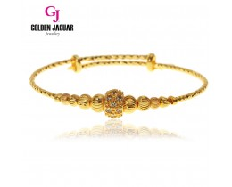 GJ Jewellery Emas Korea Bangle - Zirkon + Bulan Sabit | Kikir | Adjustable (5765502)