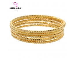 GJ Jewellery Emas Korea Bangle - Beth Kikir | 3pcs | Slip-On (5565505)