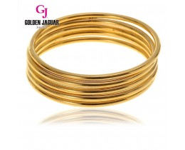 GJ Jewellery Emas Korea Bangle - Licin | 3pcs | Slip-On (5565511)