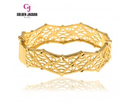 GJ Jewellery Emas Korea Bangle - Kellie's Hollow | Hook (5965513)