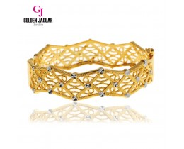 GJ Jewellery Emas Korea Bangle - Kellie's Hollow Mix | Hook (5985513)