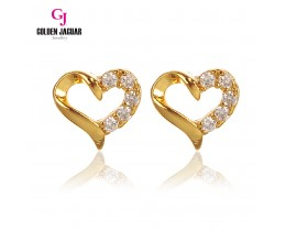 GJ Jewellery Emas Korea Earring - Love Shape 5 Zirkon (6761104)