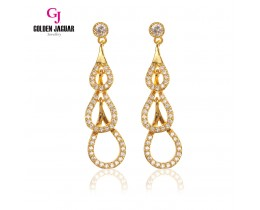GJ Jewellery Emas Korea Earring - Triple Water Drop Zirkon (6761308)