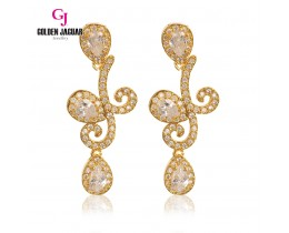 GJ Jewellery Emas Korea Earring - Twigs Water Drop Zirkon | White (6761309)