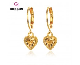 GJ Jewellery Emas Korea Earring - Bulat Licin + Love (6962106)