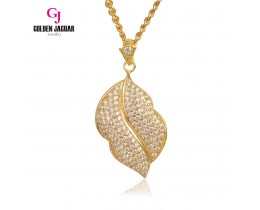 Emas Korea Golden Jaguar Fashion Loket Lips Zirkon
