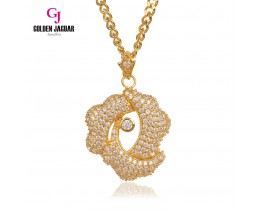 Emas Korea Golden Jaguar Fashion Loket Zirkon Penuh + Necklace