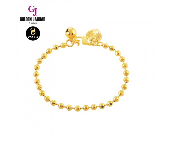 GJ Jewellery Emas Korea Bangle - Bebola | Kids (9160301)