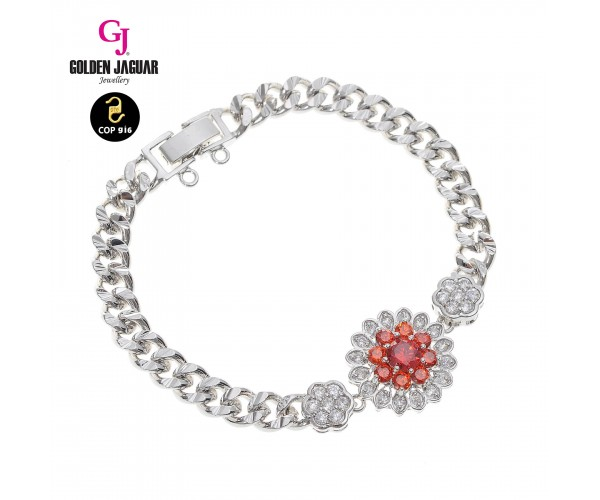 GJ Jewellery Emas Korea Bracelet - Zirkon Kiel's + Papan Kikir | Single (2771713)