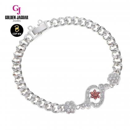 GJ Jewellery Emas Korea Bracelet - Zirkon Solar + Papan Kikir | Single (2771516)