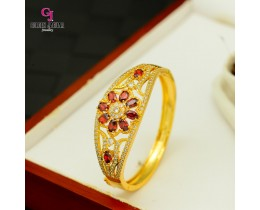 Emas Korea Golden Jaguar Zirkon Bangle (GJJ-57613)