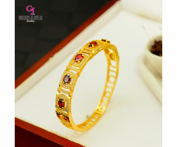 Emas Korea Golden Jaguar Zirkon Bangle (GJJ-57614)