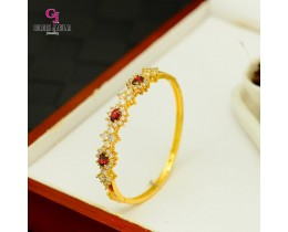 Emas Korea Golden Jaguar Zirkon Bangle (GJJ-57615)