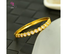 Emas Korea Golden Jaguar Zirkon Bangle (GJJ-57619)