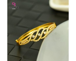 Emas Korea Golden Jaguar Zirkon Bangle (GJJ-57621)