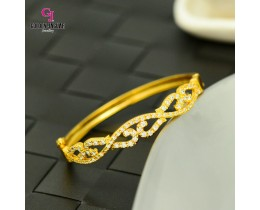 Emas Korea Golden Jaguar Zirkon Bangle (GJJ-57622)