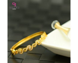 Emas Korea Golden Jaguar Zirkon Bangle (GJJ-57623)